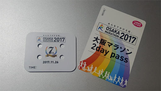 シューズ計測チップと大阪交通局2daysパス
