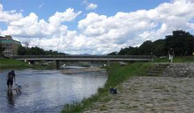 鴨川デルタから賀茂川へ