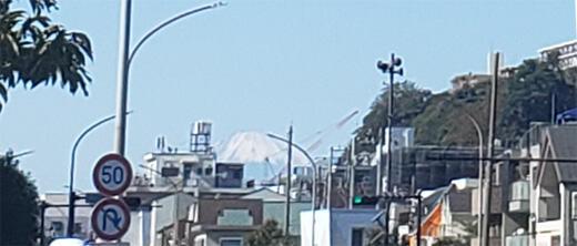13km根岸付近の富士山はここだよ