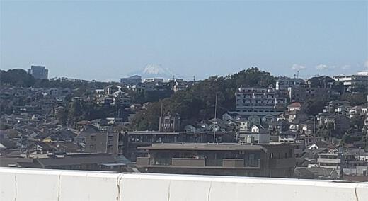 拡大・首都高と並走の富士山